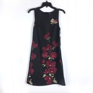 NWT Karl Lagerfeld Floral Embroidered Shift Dress